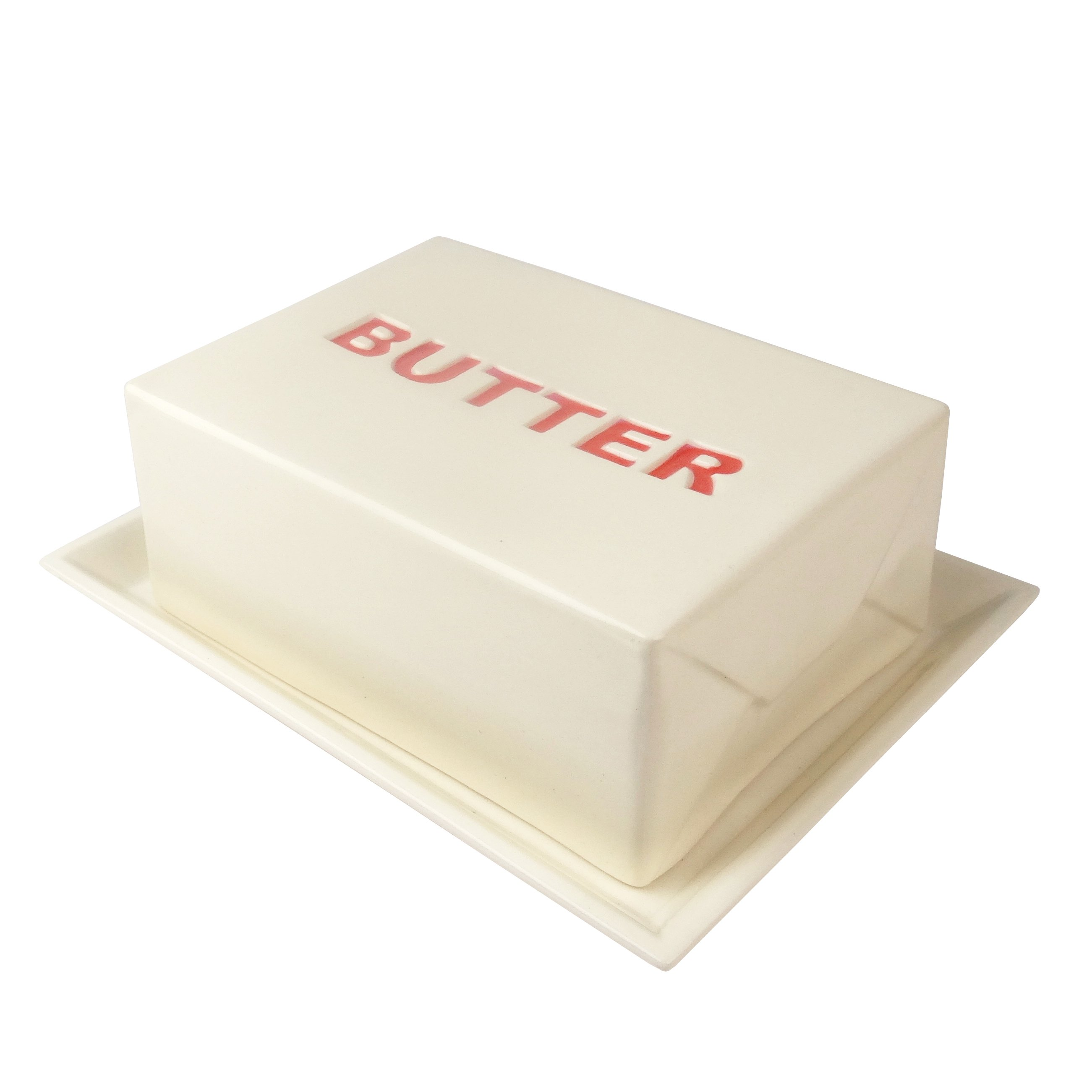 Ceramic Butter Dish in Red