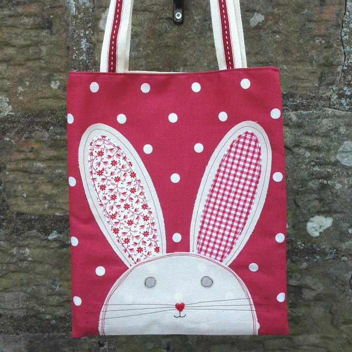 Easter Bunny Egg Hunt Bag - Red Dotty by Ticketty Boo