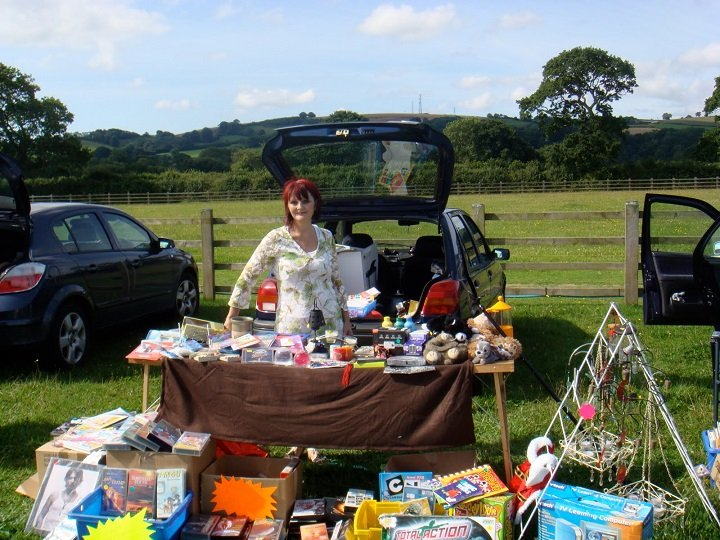 Typical car boot sale
