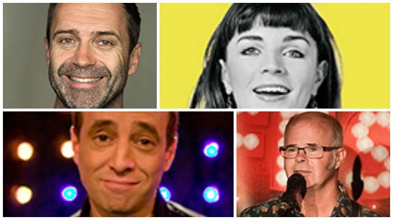 Clockwise from top left: Phil Nichol, Aisling Bea, Sean Meo, Andy Askins