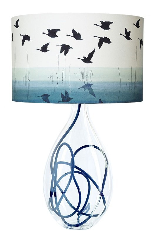 Size: large; design: Welsh Reflection; flex shade: indigo