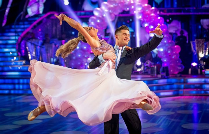 Programme Name: Strictly Come Dancing - TX: 14/12/2013 - Episode: n/a (No. n/a) - Embargoed for publication until: n/a - Picture Shows: **LIVE SHOW** Abbey Clancy, Aljaz Skorjanec - (C) BBC - Photographer: Guy Levy