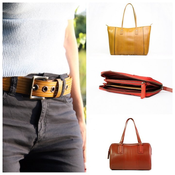 Big Yellow Belt £46; Yellow Tote Bag £199; Purse £110; Post Bag £150