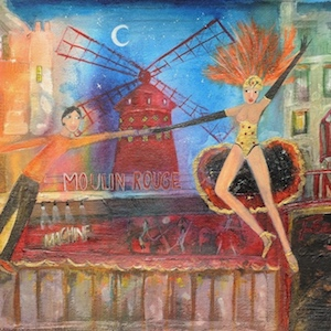 rosa supple moulin rouge painting