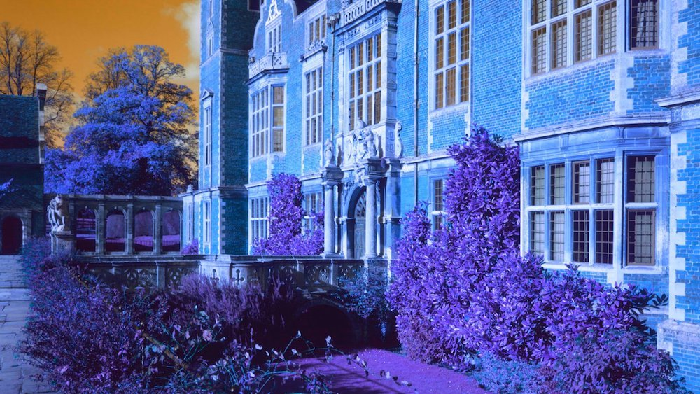 blickling hall stately home blue