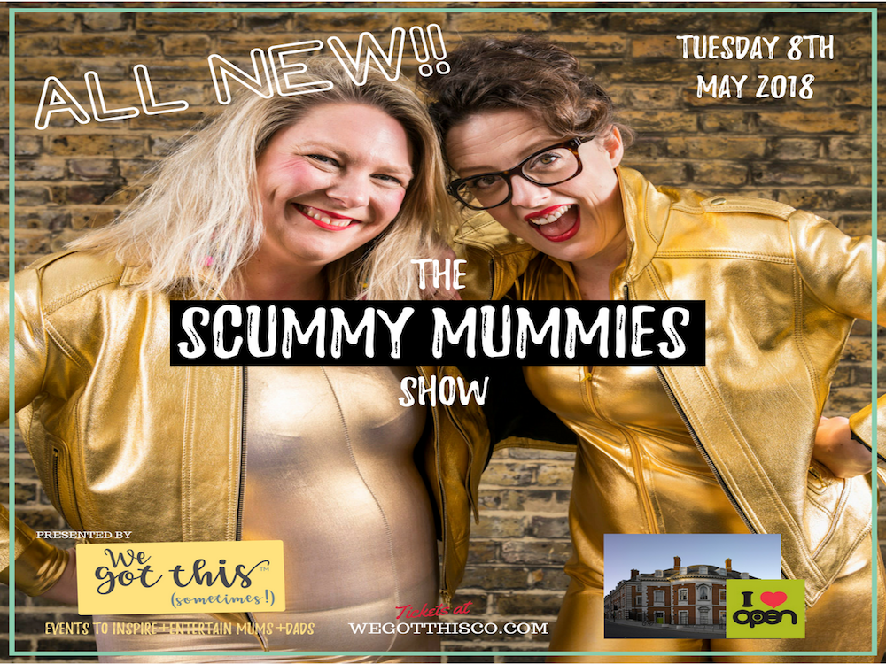 scummy mummies gold lycra