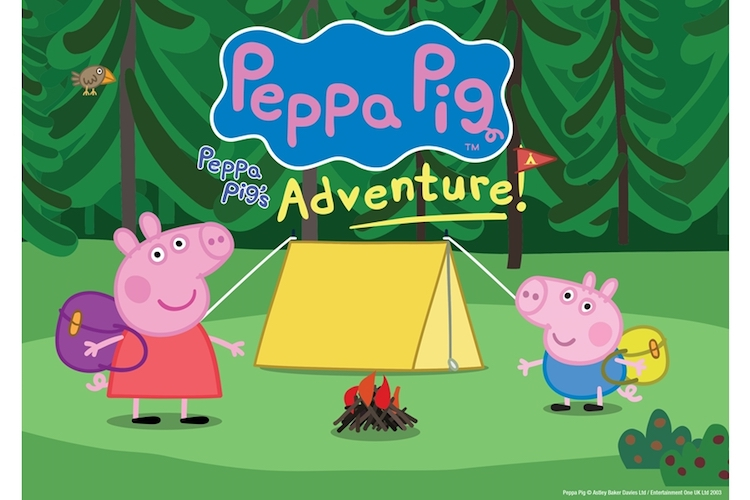 peppa pig George tent camp fire
