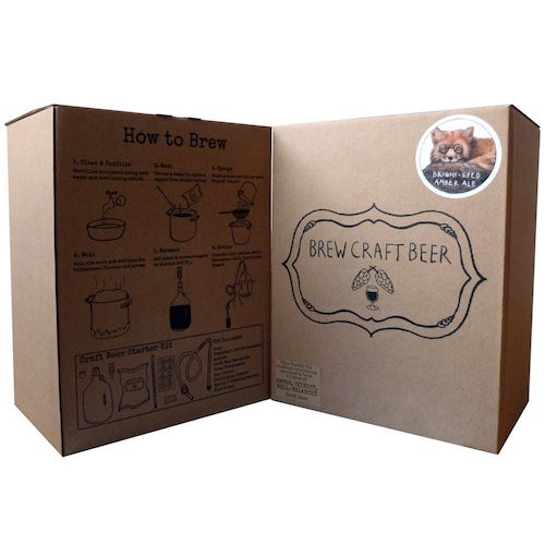 beer brew kit brown box