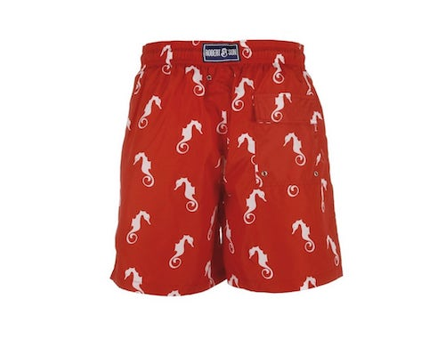 red boxer shorts with sea horses