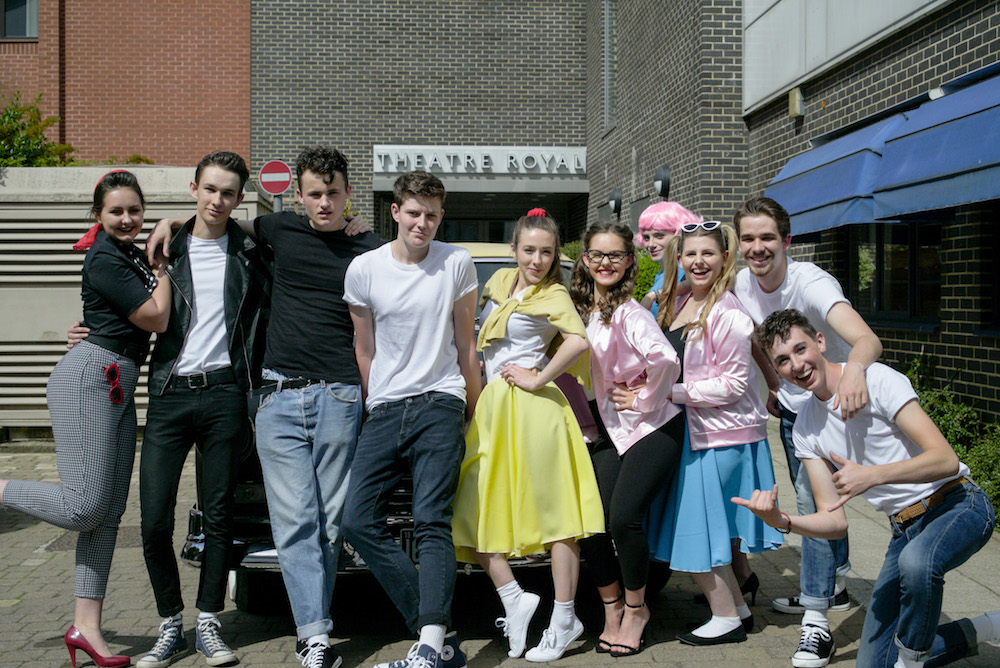 girls and boys 1950's rock and roll