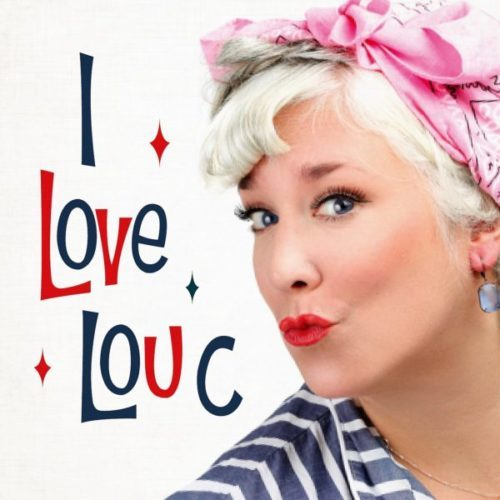 lou c blonde lady with pink hair bow