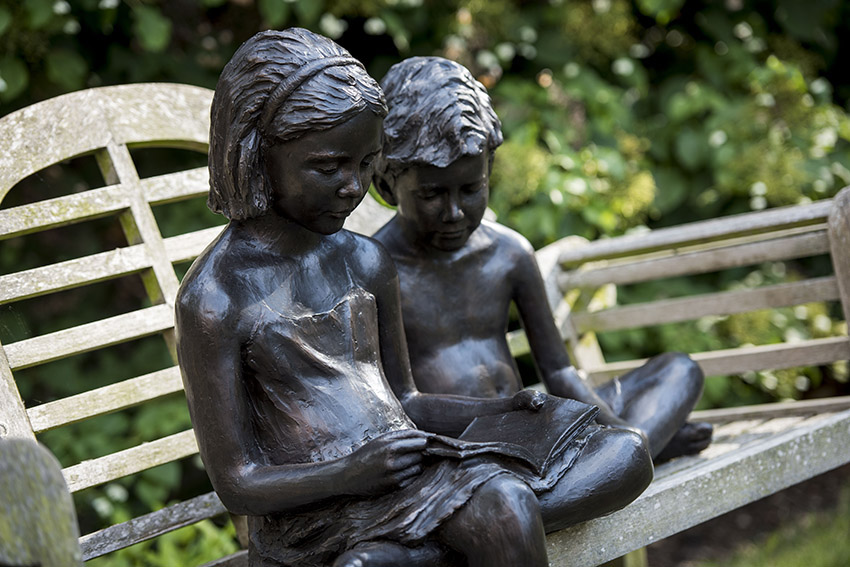 Brian alabaster sculpture children