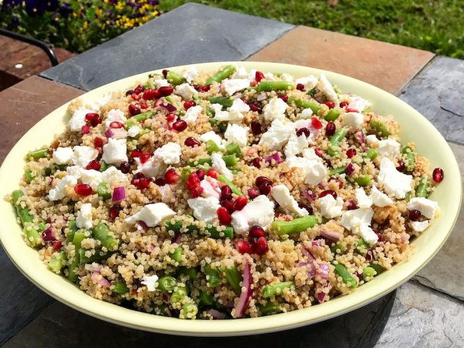 Quinoa, Pomegranate and Goats Cheese Salad