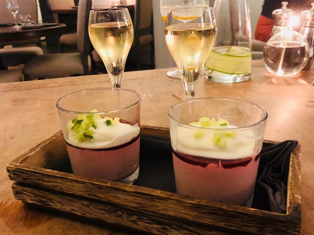 raspberry syllabub prosecco glasses