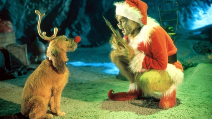 The Grinch and his dog