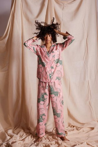 pink patterned pyjamas