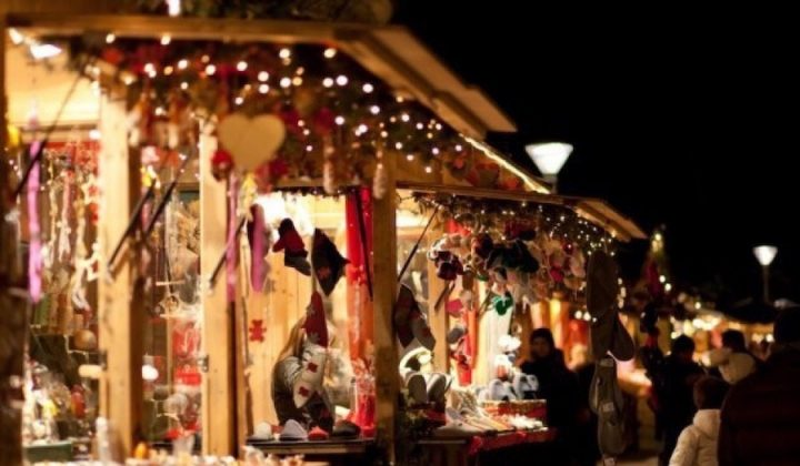 Christmas markets wooden chalets