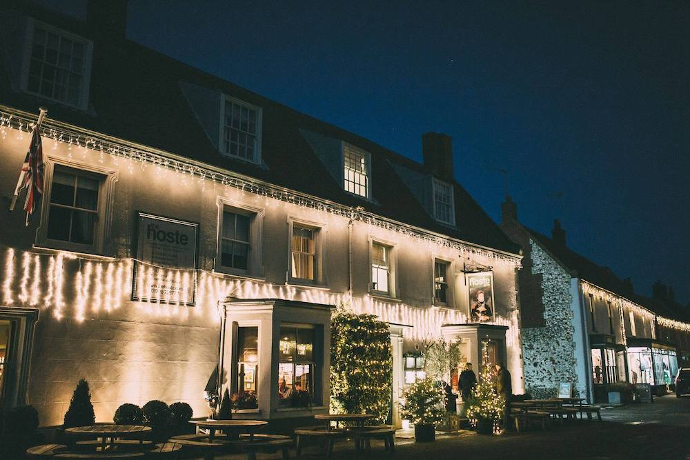 christmas lights on the hoste arms