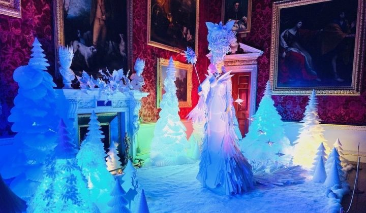 snow queen made out of paper holkham hall